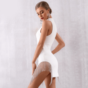 womens white party dress