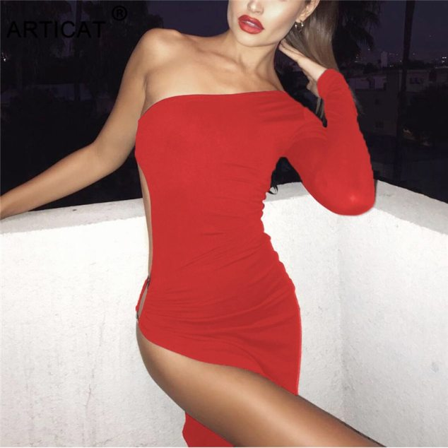 The Timeless Long Slit Red Dress