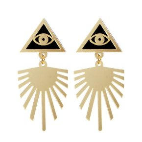 Egyptian Eye Golden Earrings