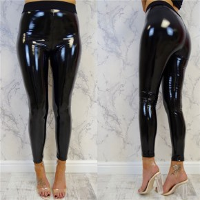 Patent Black PVC Leggings