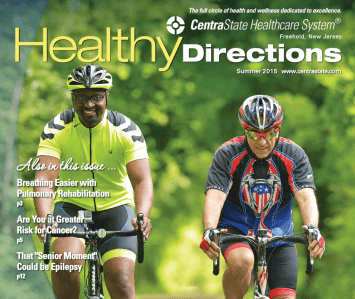 Dr. Seun Sowemimo and his gastric sleeve weight loss patient are featured in CentraState Hospital's 'Healthy Directions' Magazine.