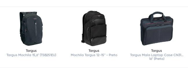 Novas mochilas Targus, uma oferta funcional 1