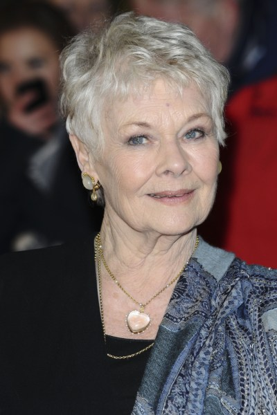 Dame Judy Dench short cropped hairstyle