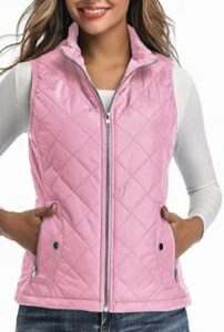 Stand Collar Lightweight Zip Quilted Vest for Women