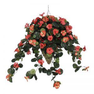 Faux Nasturtium Floral Arrangement in Cone Planter, $169.99