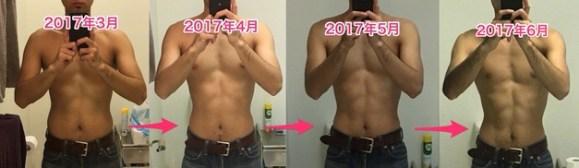 ダイエット ビフォーアフター 3ヶ月