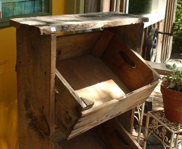 Vintage Farmhouse Wooden Apple Crate Farm Market Display