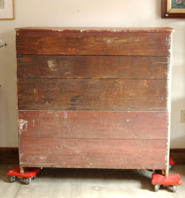 1800s Primitive Farmhouse Painted Jelly Cabinet Cupboard