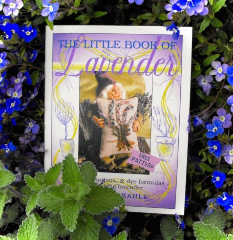 Little Book Of Lavender among the blue blossoms