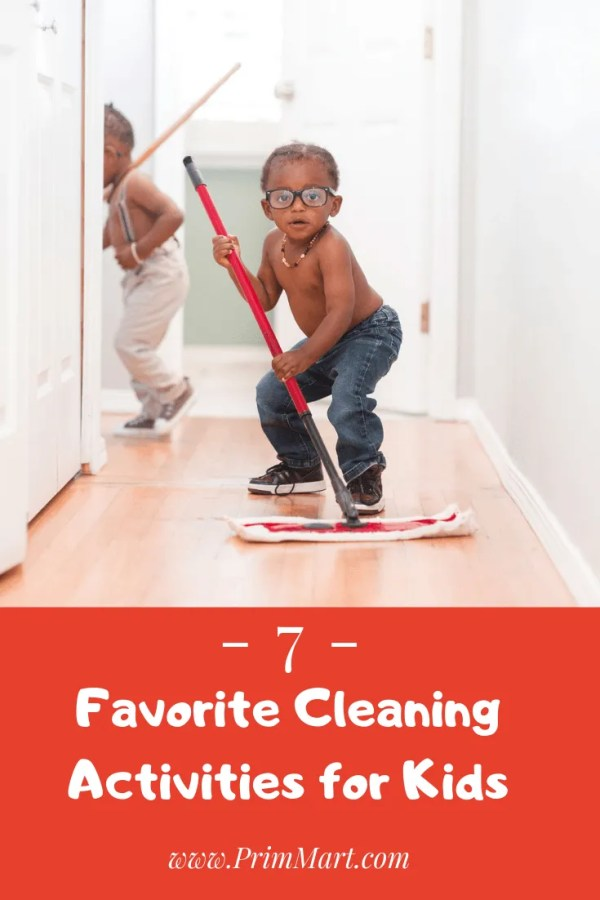 Turn household messes into clean games and get your children to not only help you but to enjoy helping you manage household cleaning chores.
