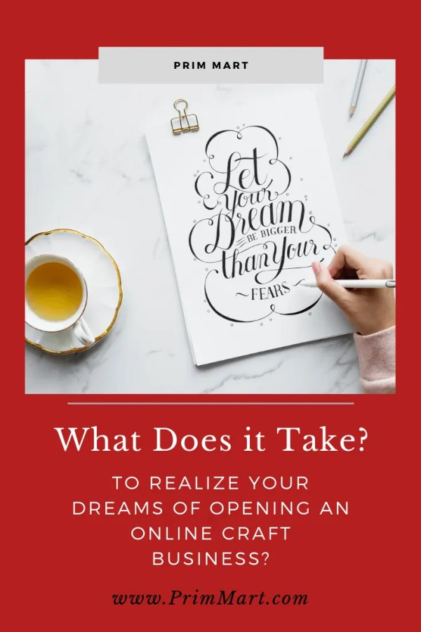 Opening an online craft business can be challenging, it's important you have facts that will help you realize your dreams.