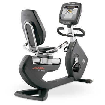 1x Life Fitness 95R Inspire Recumbent Bike