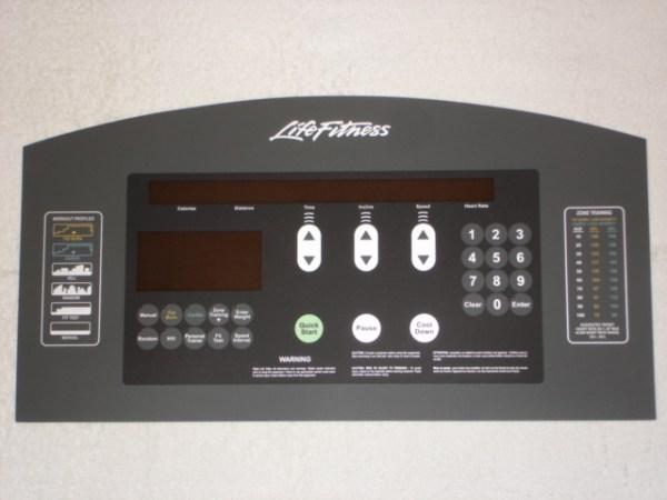 Life Fitness 95Ti Display Overlay