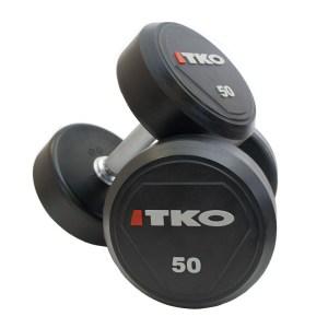 TKO Solid Steel Urethane Dumbbells