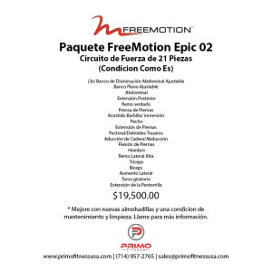 Paquete FreeMotion Epic 02