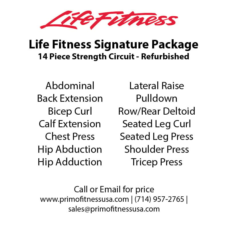 Life Fitness Signature Gym Package - Refurbished - Primo Fitness