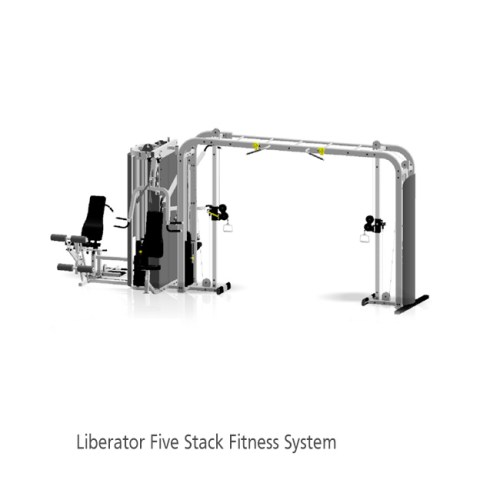 """Liberator 5 Stack w/Cable Crossover """"Monkey Bar"""" with Shrouds"""