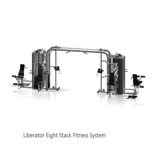 """InFlight Liberator 8 Stack w/Cable Crossover """"Monkey Bar"""" Crossbeam with Shrouds."""