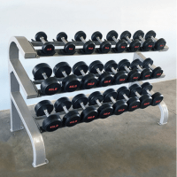 Modular Three Tier 12 Pairs Dumbbell Rack
