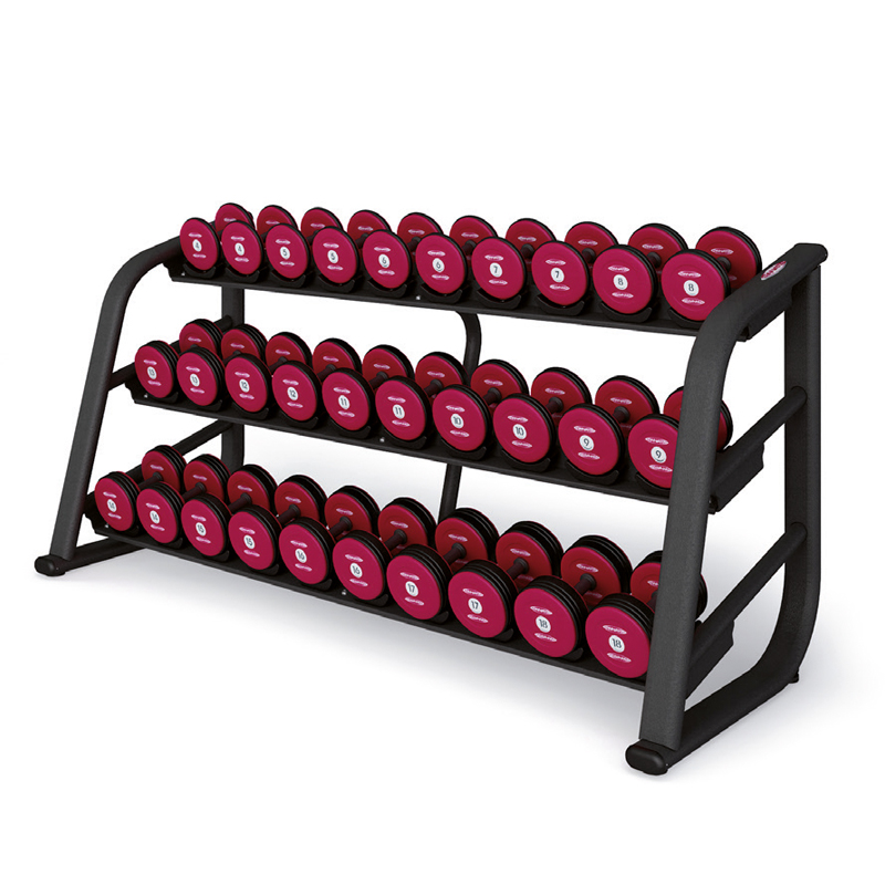 Panatta Dumbbell Rack 220 CM Rubberized 1FE255