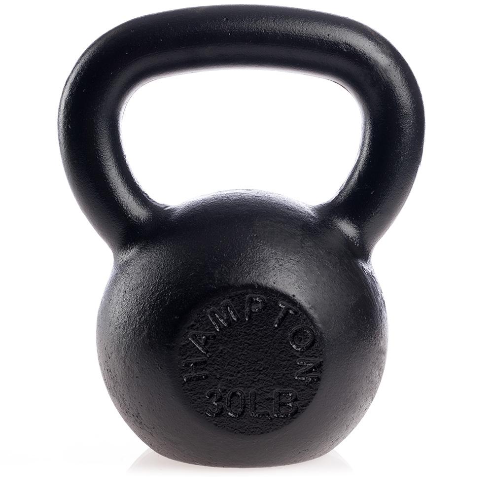 Hampton Fitness Black Kettlebells