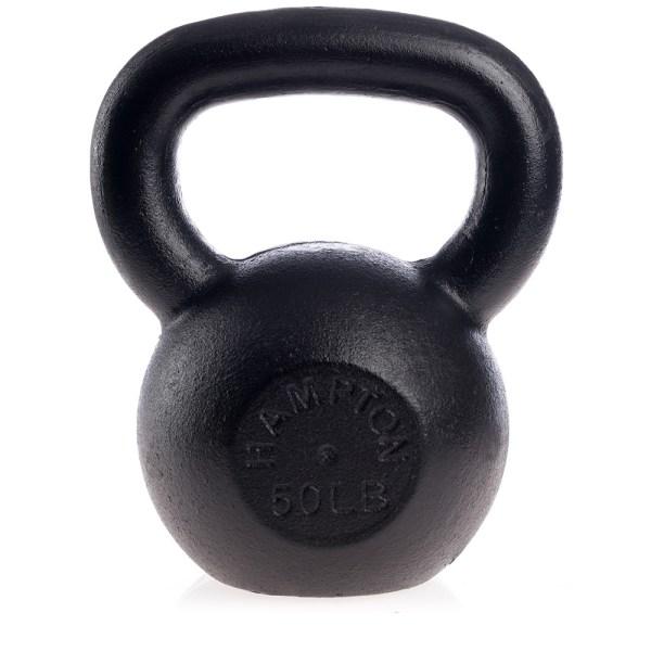 50 lb. Black Hampton KettleBell, 40mm