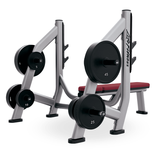 Life Fitness Olympic Bench Weight Storage (SOBWS)