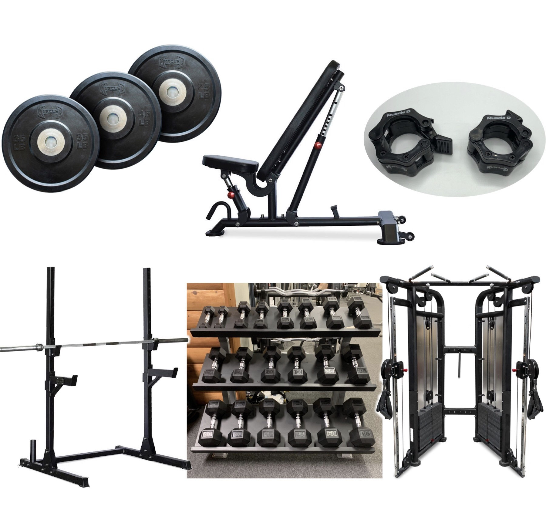 Muscle D- Home Gym Equipment Package