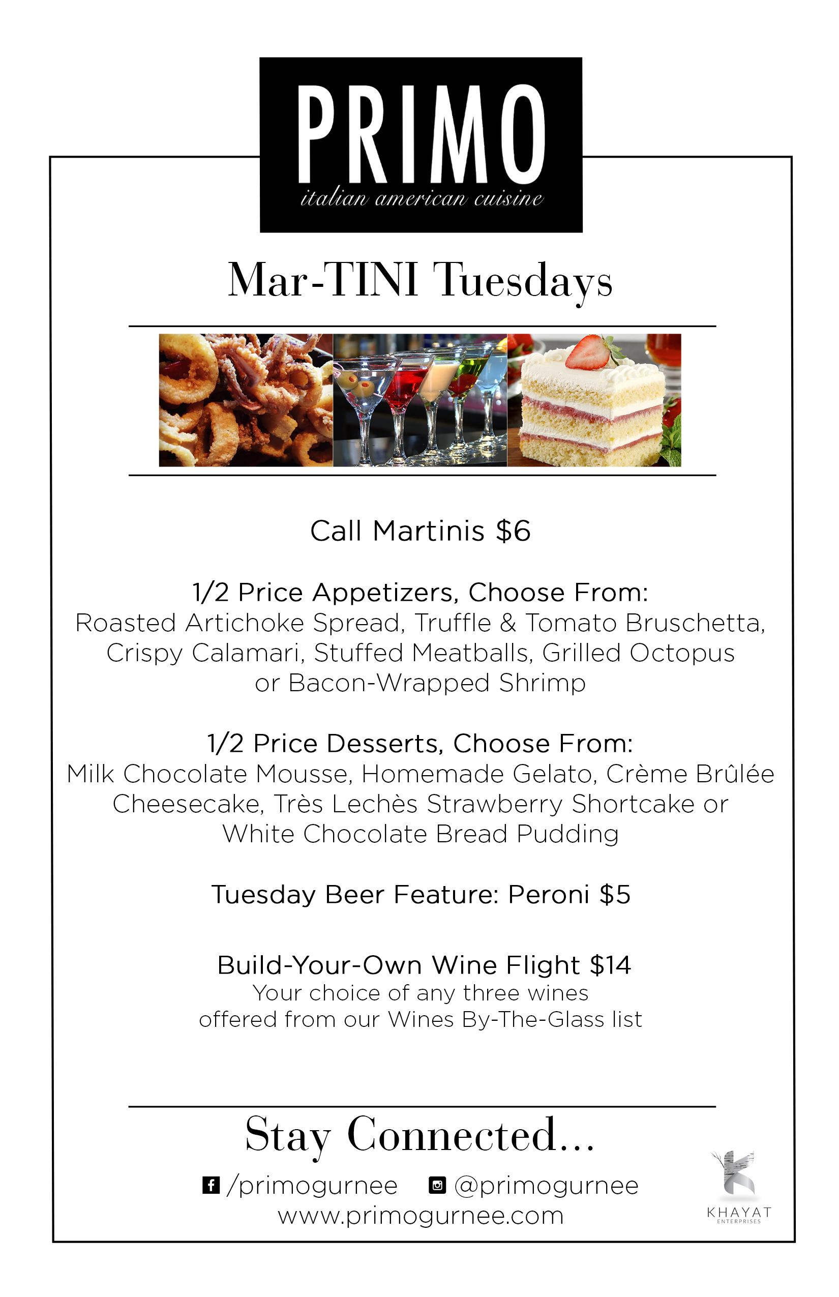 Primo Tuesday Specials