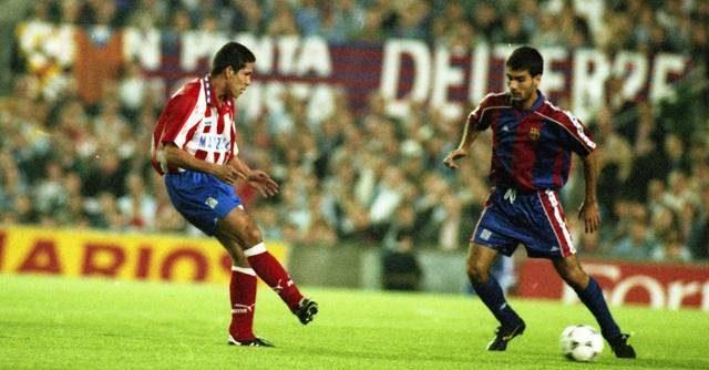 Diego Simeone vs. Pep Guardiola. Sursă foto: twitter.com