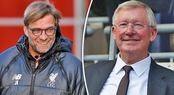 Jurgen Klopp și Sir Alex Ferguson. Sursă foto: express.co.uk