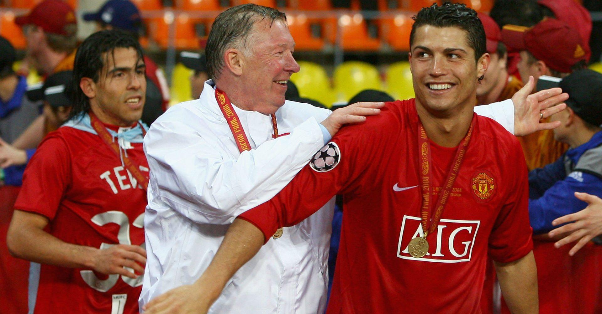 Cristiano Ronaldo și Sir Alex Ferguson. Sursă foto: goal.com