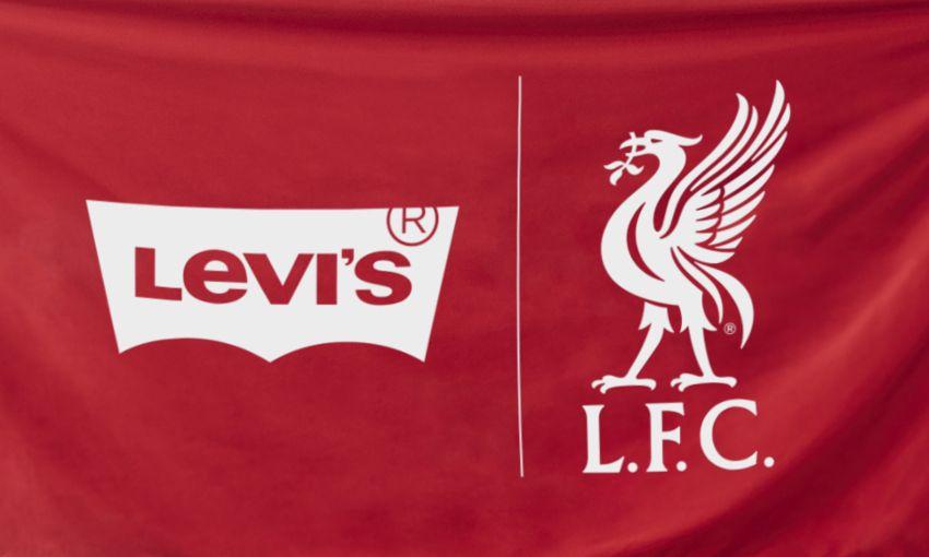 Levi's a lansat o colecție de haine în cinstea lui Liverpool. Foto. Sursă foto: futbolgrid.com