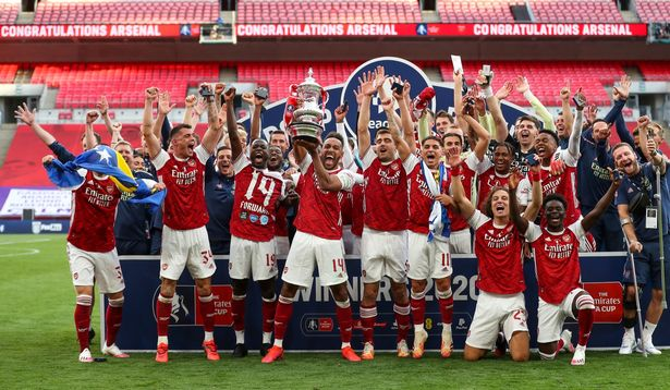 Jucătorii lui Arsenal. Sursă foto: mirror.co.uk