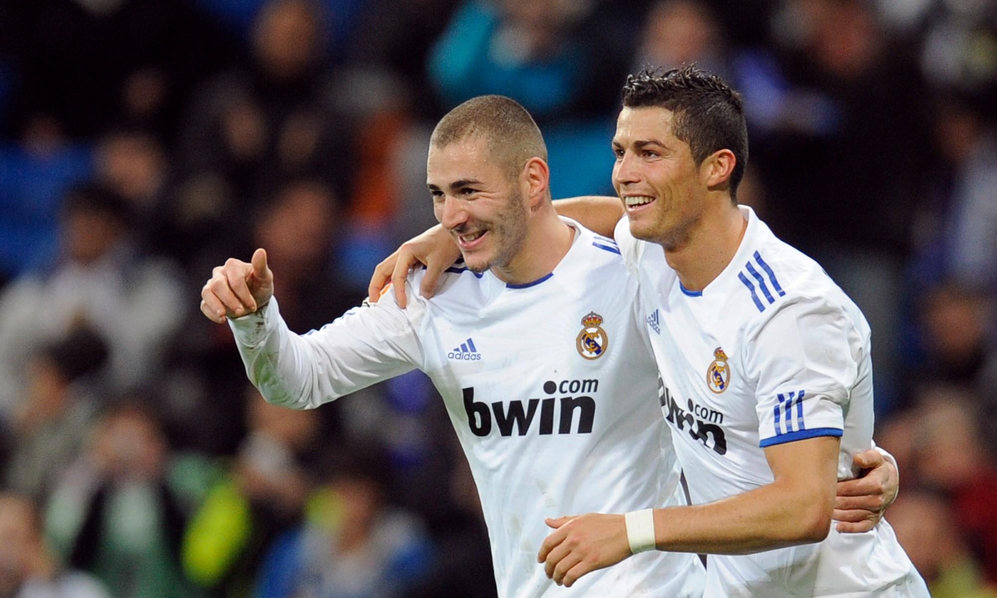 Karim Benzema și Cristiano Ronaldo. Sursă foto: goal.com