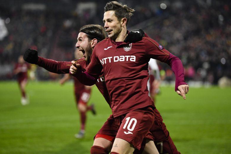 Imagine din CFR Cluj - Sevilla, 1-1. Sursă foto: gsp.ro