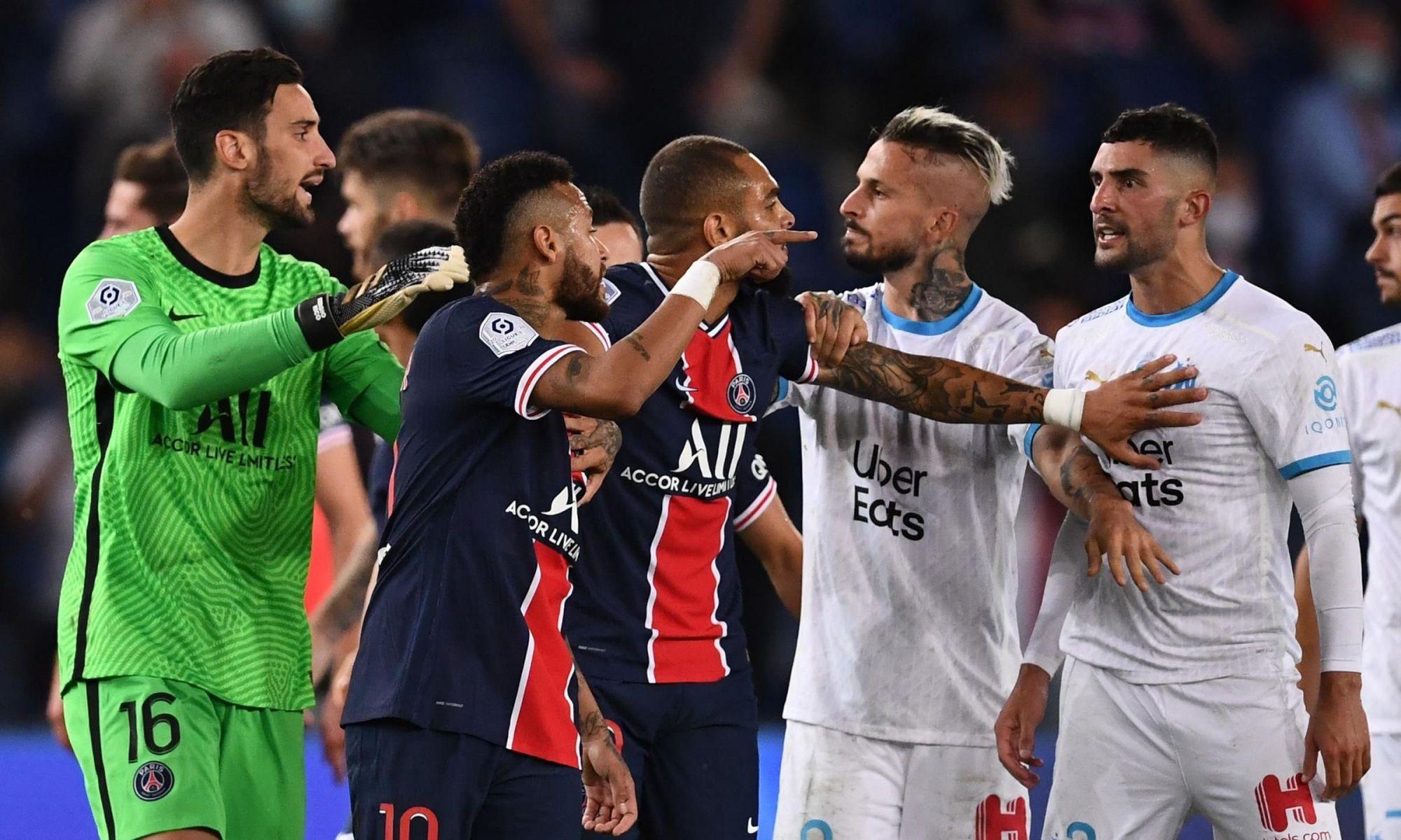 Video cu toată bătaia de la PSG - Marseille. Sursă foto: eurosport.com