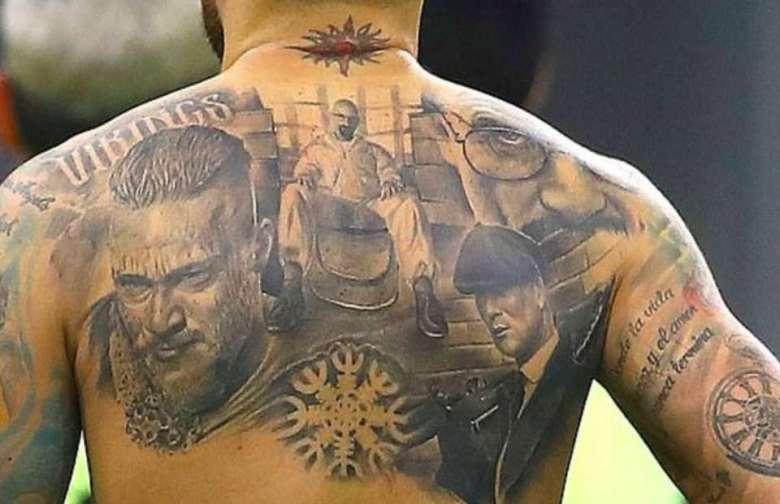 Tatuajul lui Nicolas Otamendi. Sursă foto: goal.com
