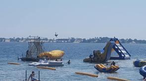 SANDBANKS WATERPARK SEA DOO JET SKI PONTOON BOAT RENTALS CAMPING SUMMER DAY CAMP COTTAGE RENTALS