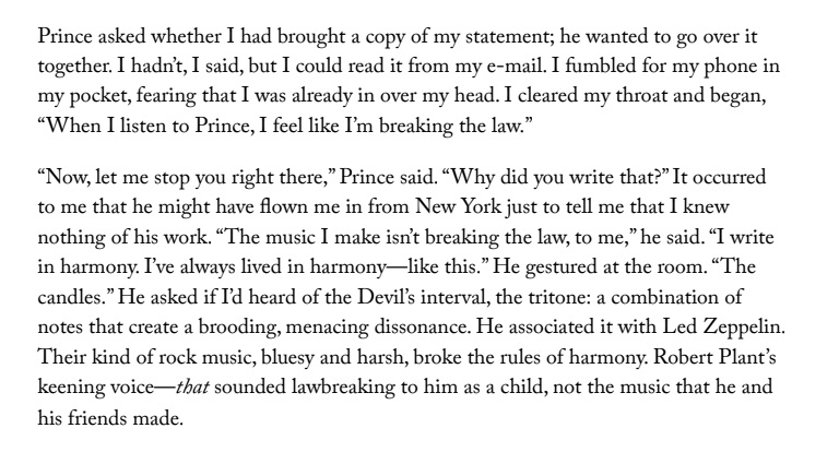 New Yorker clip When I listen to Prince I feel as if Im breaking the law