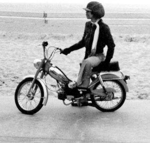 Prince & Motorbike with Hat & Scarf on California Beach Princefan046