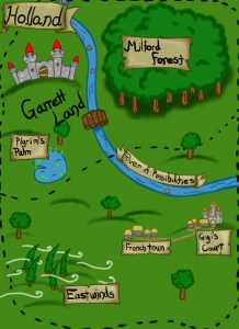 map of Garrett Land