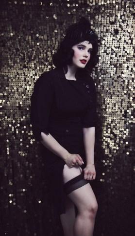 black dress gold sized
