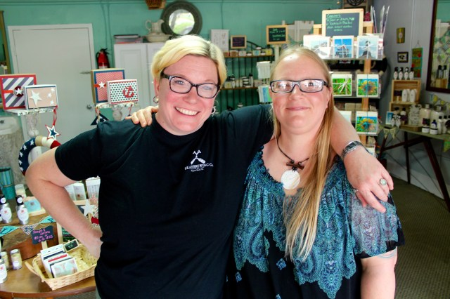 Valerie Goulart and Victoria Sgro-Konopka opened a shop together at the Farmers Market. [John-Henry Doucette/The Princess Anne Independent News]