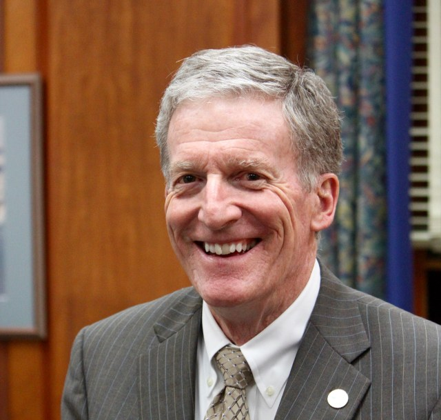 City Manager Jim Spore, photographed in his office at Virginia Beach City Hall in December 2015. [John-Henry Doucette/The Princess Anne Independent News]