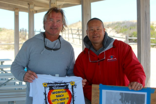 James Barton and Kevin Wong have organized the cleanup effort in Sandbridge for years. [John-Henry Doucette]