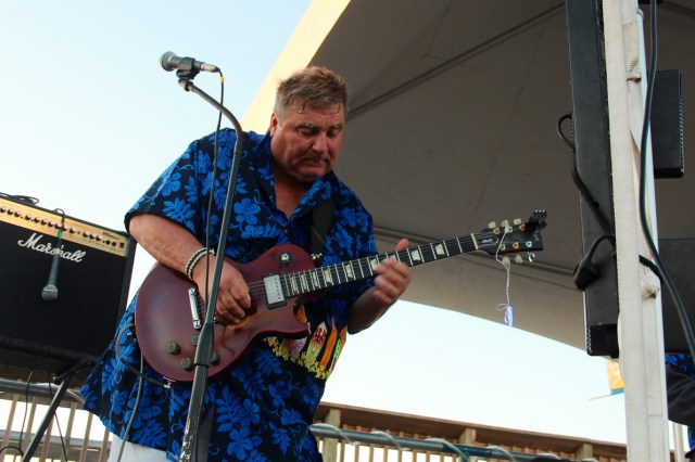 Edgar Justus of The Rhondels plays during the Party at the Pier in Sandbridge. [John-Henry Doucette/The Princess Anne Independent News]