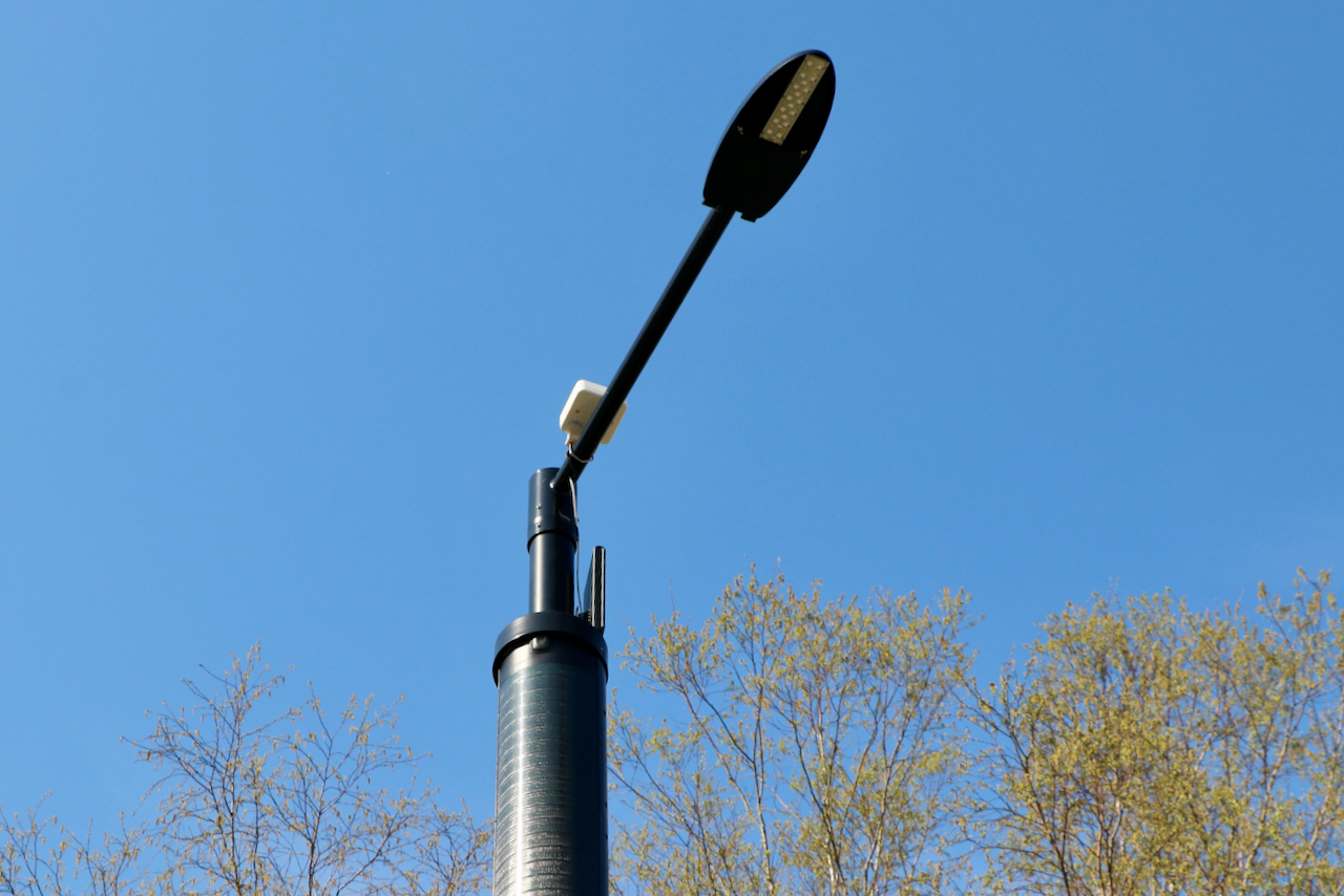 'Smart pole' provides free wireless connectivity in and around Pungo-Blackwater Library in rural city