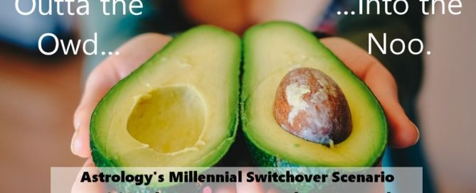 avocado-themed millennial astrology chart shows 20th Century versus Now