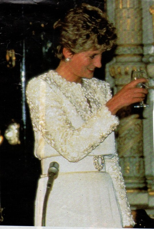 3 MARCH 1993 PRINCESS DIANA IS FETED AT A BANQUET BY THE